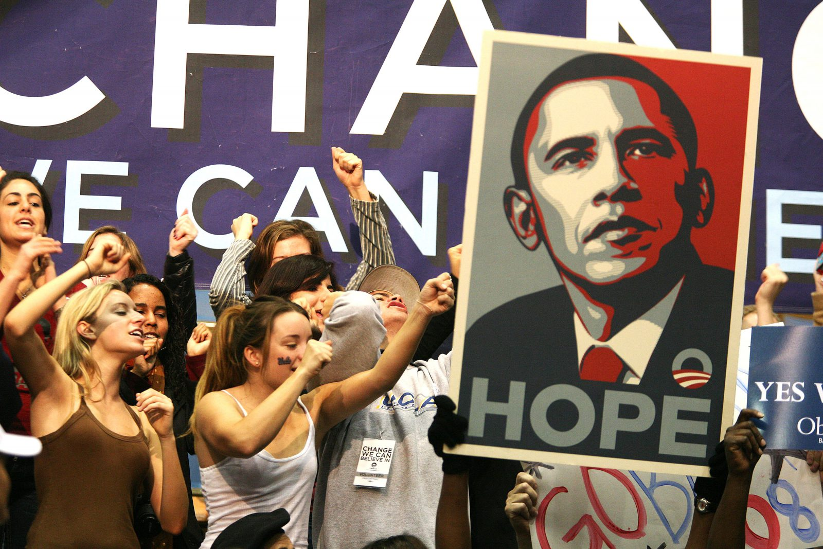 Carte campaña Obama